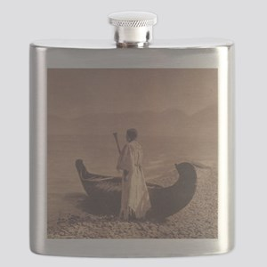 KutenaiWoman1910CurtisTile Flask