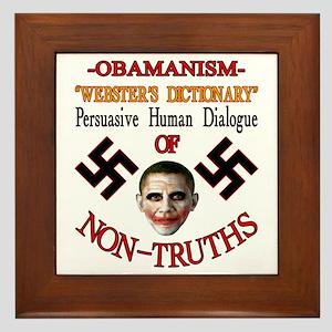Obamanism Framed Tile