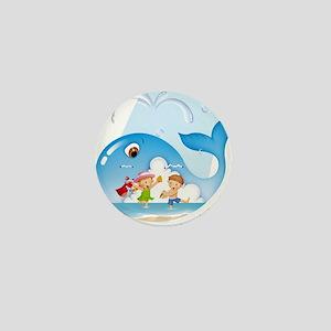 Whale Harbor Mini Button