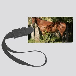 horse in summer Large Luggage Tag