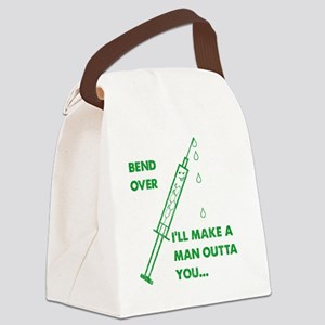 2-Bend over Canvas Lunch Bag