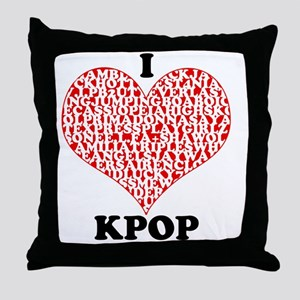 ilovekpop Throw Pillow