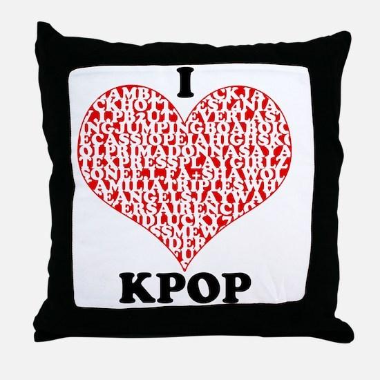 ilovekpop Throw Pillow
