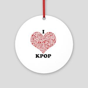 ilovekpop Round Ornament