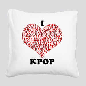 ilovekpop Square Canvas Pillow