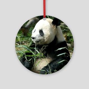 Panda Profile Ornament (Round)