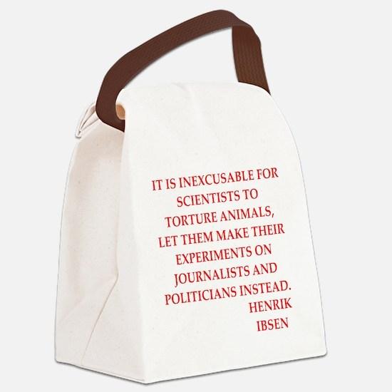 henrik ibsen quote Canvas Lunch Bag