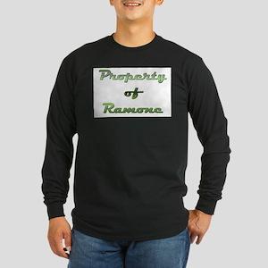 Property Of Ramone Male Long Sleeve Dark T-Shirt