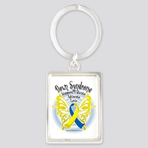 Down-Syndrome-Butterfly-3 Portrait Keychain