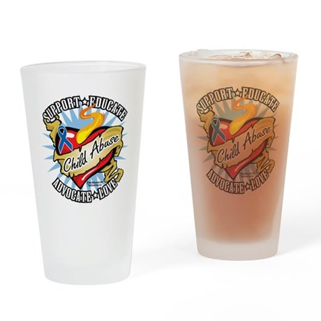 Child-Abuse-Classic-Heart Drinking Glass