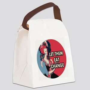 Let them eat change roundel2 MA Canvas Lunch Bag