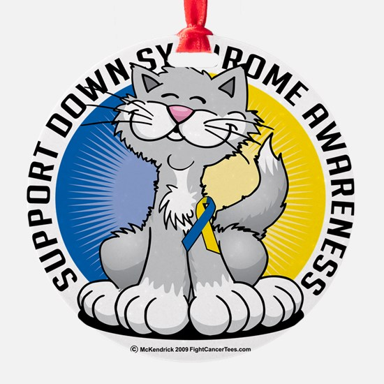 Paws-for--Down-Syndrome-Cat Ornament