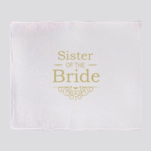 Sister of the Bride Gold Throw Blanket