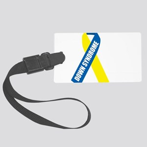 Down-Syndrome-Hope-blk Large Luggage Tag