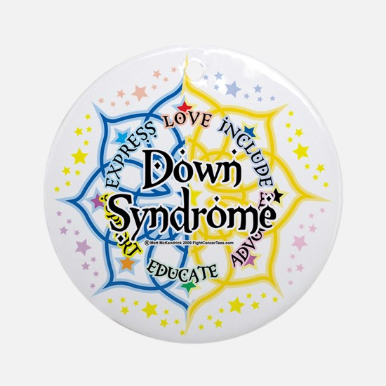 Down-Syndrome-Lotus-2009 Round Ornament