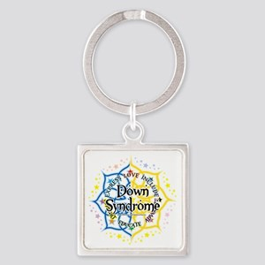 Down-Syndrome-Lotus-2009 Square Keychain
