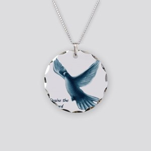 2-dove Necklace Circle Charm