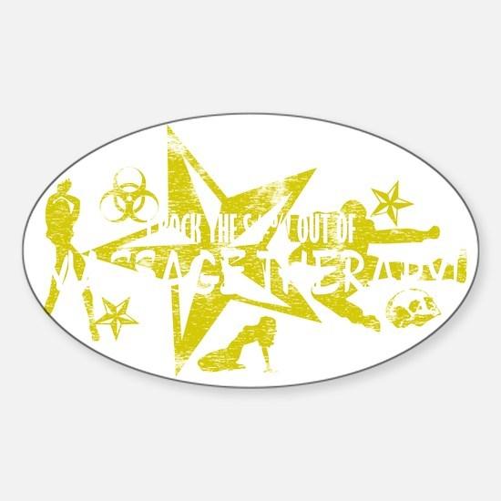 MASSAGE THERAPY WHT Sticker (Oval)