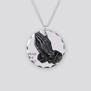 prayinghand Necklace Circle Charm
