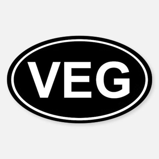 Veg Sticker Black (Oval)