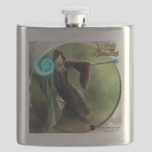 Human Wizard Female - Shirt Flask