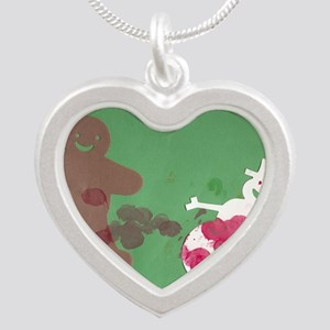 Pennys christmas art Silver Heart Necklace