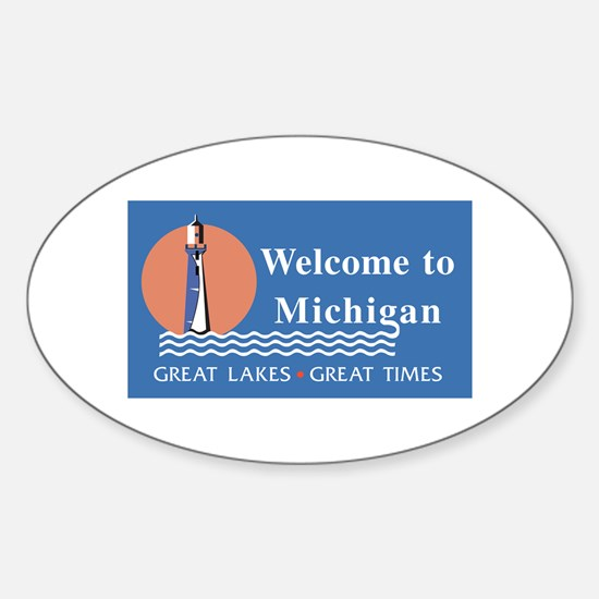 Welcome to Michigan - USA Oval Decal