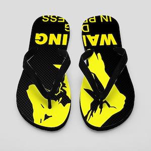 Warning DJing in Progress Flip Flops