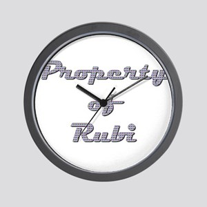 Property Of Rubi Female Wall Clock