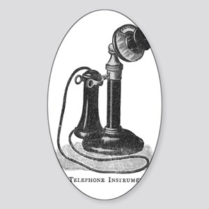 telephone instrument Sticker (Oval)