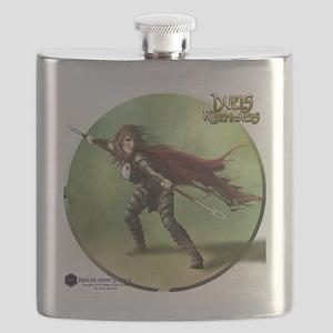 Human Warrior Female - Shirt Flask
