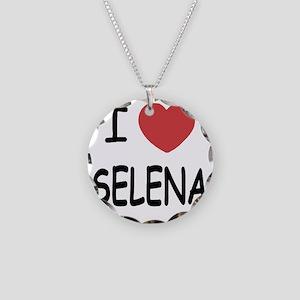 SELENA Necklace Circle Charm