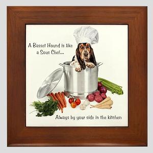Basset Hound Sous Chef Framed Tile