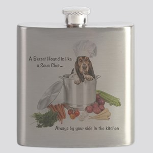 Basset Hound Sous Chef Flask