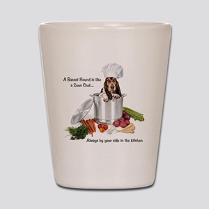Basset Hound Sous Chef Shot Glass