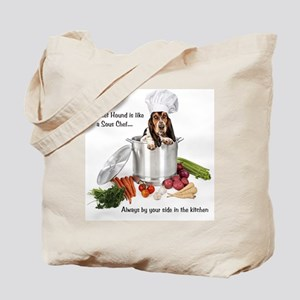 Basset Hound Sous Chef Tote Bag