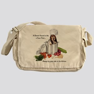 Basset Hound Sous Chef Messenger Bag
