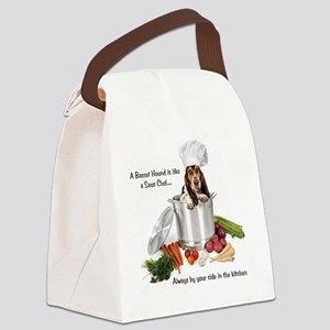 Basset Hound Sous Chef Canvas Lunch Bag