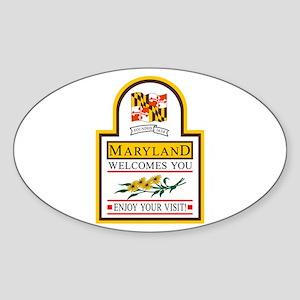 Welcome to Maryland - USA Oval Sticker