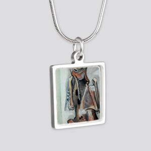 birdmummylarge Silver Square Necklace