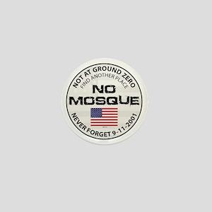 august_no_mosque Mini Button