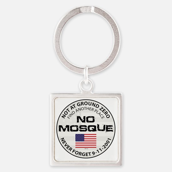 august_no_mosque Square Keychain