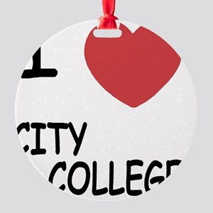 CITY_COLLEGE01 Round Ornament