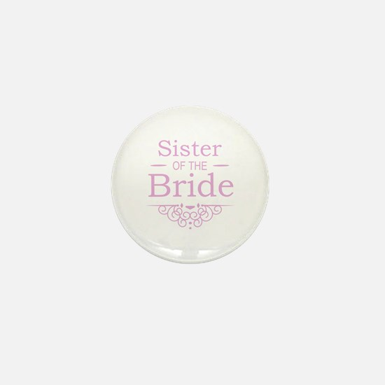 Sister of the Bride pink Mini Button