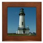 Yaquina Lighthouse Framed Tile