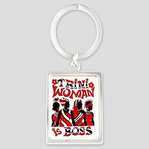 TRINI WOMEN IS BOSS Portrait Keychain