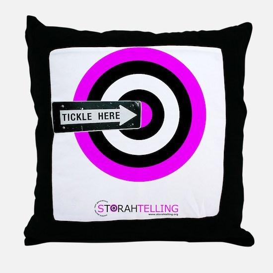 tickle-arrow-pink Throw Pillow