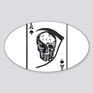 The Death Card Oval Sticker