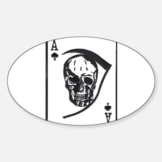 The Death Card Oval Decal