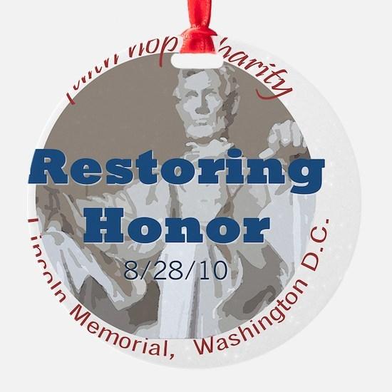 2-Restoring Honor 3 button Ornament